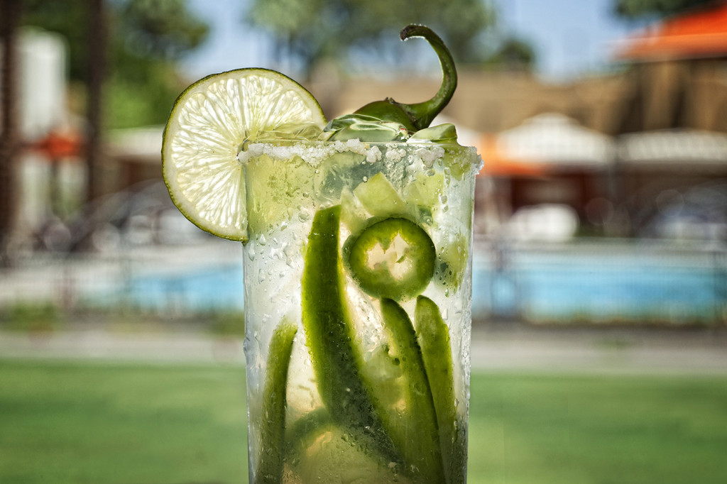 Jalapeno drink photography